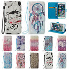 3D Leather Wallet Magnetic Smart Stand Case Cover for iPhone 5 6 7 Plus SE 6S 5S