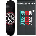 ELEMENT Skateboard Deck TEAM SEAL BLACK 8.5 with GRIZZLY GRIPTAPE