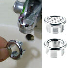 Sink Round Ring Overflow Spare Cover Tidy Chrome Trim Bathroom Ceramic Basin Hot