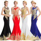 GraceKarin Applique Red Long Pageant Formal Prom Party Evening Dresses Cocktail@