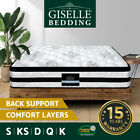 Giselle Queen Mattress Double King Single Bed Euro Top Pocket Spring Firm Foam