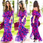 Fashion Women Boho Summer Beach Evening Party Cocktail Long Maxi Dress Sundress