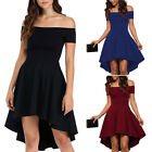 Women Summer Casual Short Sleeve Evening Party Cocktail Short Mini Dress