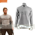 US SHIP!Movie Guardians Of The Galaxy Vol 2 Star-Lord T-Shirt Men Long Sleeve