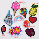 Fine embroidery cloth paste fruit flowers small patch