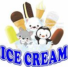 Ice Cream DECAL (Choose Your Size) Food Truck Sign Restaurant Concession