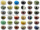 Natural Gemstone Egg Crystal Healing Sphere Massage Finger Exercise 35x40mm