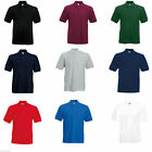 FRUIT OF THE LOOM HEAVY POLY/COTTON PIQUE POLO SHIRT S-3XL SS27