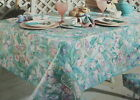 Easter Day Tablecloth Bardwil Linens Aqua Pastel Tulips Flowers USA Your Choice