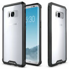 For Samsung Galaxy S8/S8 Plus Clear TPU Case Shockproof Bumper Black Frame Cover