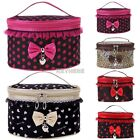 New Fashion Women's Sweet Lace Bowknot Travel Makeup Storage Beauty K0E1