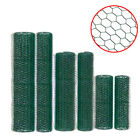 6 sizes PVC Coated Wire Mesh 25mm,50mm Fencing Green Galvanised Garden Fence uk