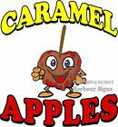 Caramel Apples Red DECAL (CHOOSE YOUR SIZE) Candy Food Truck Sign Concession