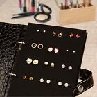 Women Jewelry Boxes Pu Leather Stud Earrings Collection Book Storage Organizer