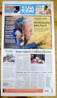 Original 2005 headline display newspaper Catholic POPE JOHN PAUL II DEAD
