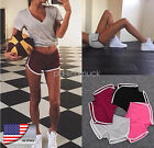 Damen Kurze Sporthose Fitness Sommer Sport Shorts Gym Training Bund Fitness Yoga