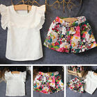 Lovely Infant Girl Baby Clothes T-shirt Tops+Skirt Shorts Dress Outfits Set 2PCS
