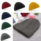 Beanie Trawler Hat Warm Ribbed Winter Turn Up Retro Ski Unisex Fisherman DockerL