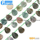 13x18mm Natural Indian Agate Teardrop Leaf Shape Beads For Jewelry Making 25 Pcs
