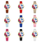 New Hot Women Colorful Gold Rose Silver Flowers Butterfly Alloy Watch Wristwatch