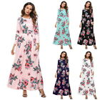 Plus Size New Summer Dress Women Rose Print Dresses O-Neck Long Dress Beach