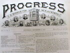 1879 newspaper w pict of FAMOUS INVENTORS Thomas Edison ALEXANDER GRAHAM BELL ++