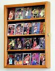 Sport Trading Card Display Case Cabinet Rack Holder 20 Cards - Lockable
