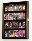 20 Sport Cards Collectible Card Display Case Cabinet Holder Wall Rack 98% UV