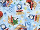THOMAS THE TANK ENGINE allover: LICENSED VIP 100% cotton   by the 1/2 metre