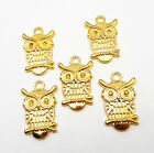 Wholesale Bulk Gold Tone Owl Eagle Animal Charm Pendants Jewelry Findings