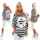 WoW cooles Shirt gestreift Maritim-Look  Neu