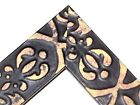 """1 1/2"""" Flat Black EMBOSSED TRIBAL Distressed Wood Picture Poster Frame-Standard"""