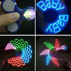 New LED Light Fidget Hand Spinner Flash Word Changing Finger Toy EDC Focus Gyro