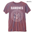 Official T Shirt RAMONES Vintage Distressed Seal Logo RED  Burnout All Sizes