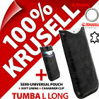 sony mobile xperia j - New Krusell Tumba L Long GENUINE LEATHER Mobile Pouch Case Cover Sleeve Slim