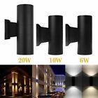 6/10/20W Exterior Wall Light Fixture Up Down Dual-Head COB LED Wall Lamp Outdoor