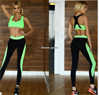 US SHIP! Hot 2PCS Leisure Sports Fitness Quick-drying Yoga Cloth Complete Outfit