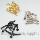 Guitar machine head string tree screws chrome black or gold 6, 12, 50 or 100.