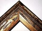 """1.5"""" Aged Old World Gold Antique Rustic Distressed Wood Picture Frame-Panoramic"""