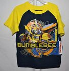 NEW Bumblebee Transformers Youth Boys T Shirt Navy Blue Yellow