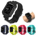 For Apple Watch iWatch 38/42mm Protective Rugged Case Strap Band Black Series2/1