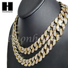 Iced Out 14k Gold PT 15mm 8.5 - 24 Miami Cuban Choker Chain Necklace Bracelet