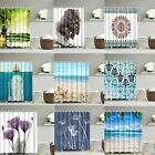 Waterproof Polyester Fabric Various Pattern & 12Hooks Bathroom Shower Curtain XM