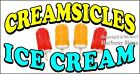 (CHOOSE YOUR SIZE) Creamsicles Ice Cream DECAL Concession Food Truck Sticker
