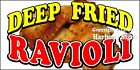 Choose Your Size) Deep Fried Ravioli DECAL Food Truck Vinyl Sign Concession