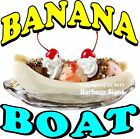 Banana Boat DECAL (Choose Your Size) Split Ice Cream Food Truck Concession