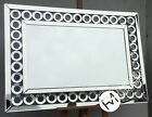 LG Stunning Contemporary Crystal Circle Multi Bevelled Mirror - MELROSE - New
