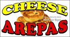 (CHOOSE YOUR SIZE) Cheese Arepas DECAL Concession Food Truck Vinyl Sticker