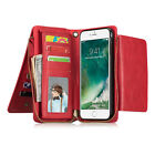 Magnetic Removable Wallet Zipper Leather Case Folio Cover for iPhone 6 6S 7 Plus