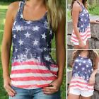 Women Casual O-Neck Sleeveless Star Print Tank Top DZ8801
